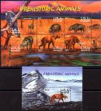 MALDIVE 2002, Fauna, Animale preistorice, Dinozauri, serie neuzata, MNH