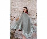 Cumpara ieftin Poncho dama Anello Alaska Powder Green - Chez Moi, Verde