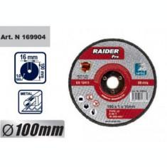 Disc pentru metal, scule pneumatice 100x1x16mm, Raider