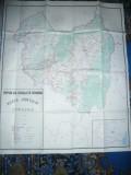 Harta mare a Judetului COVASNA 1983 , dim.=115x96cm , RSR Inst. Geodezie