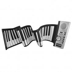 Orga flexibila cu claviatura Roll-Up, 61 clape