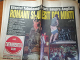 Evenimentul zilei 24 iunie 1998-victoria echipei de fotbal: romania-anglia (2-1)