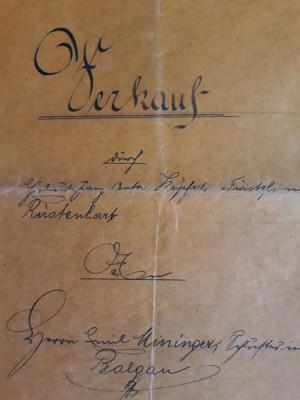 ACTE NOTARIALE VECHI 1918 - TIMBRU FISCAL - HARTIE CU FILIGRAM - CALIGRAFIE foto