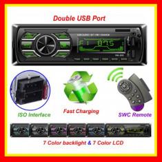 Casetofon Auto Bluetooth 2 USB Mp3Player Radio MicroCard SD Telecomanda, Telefon