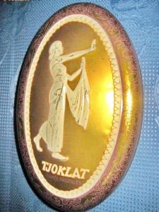 330A-Cutie ciocolata  veche Tjoklat camee pastilles Fabriek n.v. Amsterdam.