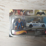 Hot wheels cu figurina Superman, 1:64