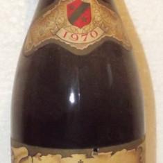 81 - vin rosu cotes du rhone,a.c, recoltare 1970 cl 72 gr 12