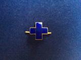 INSIGNA REGALISTA - SEMN DE ARMA - CRUCE culoare albastra