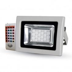 Proiector LED, 10 W, senzor de lumina, alb
