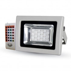 Proiector LED, 10 W, senzor de lumina, alb, Oem