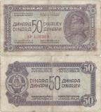 1944 , 50 dinara ( P-52b ) - Iugoslavia