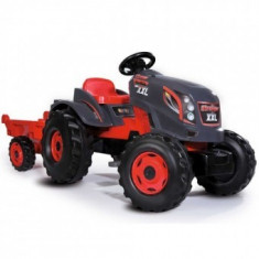 Tractor cu pedale si remorca Smoby Have Fun Stronger