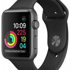 Smartwatch Apple Watch 3, AMOLED Capacitive touchscreen 1.65inch, Bluetooth, Wi-Fi, Bratara Silicon 38mm, Carcasa Aluminiu, Rezistent la apa si praf (