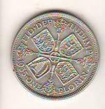 SV * Anglia  ONE  FLORIN 1935 * ARGINT * Regele George V          AUNC