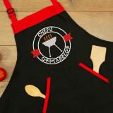 """Sort personalizat brodat """"Chefu gratarelor"""" (Culoare: Negru premium (piele..."""