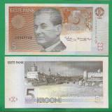 = ESTONIA - 5 KROONI – 1994 - UNC   =