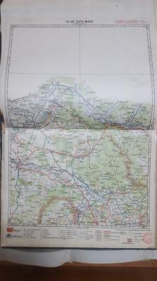 Harta Satu Mare, Baia Mare, Bolda, Dumbrava, Călinești, 1928 foto