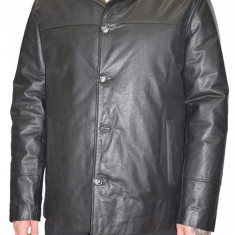 Haina barbati, din piele naturala, marca La Strada, 0-12-1, negru , marime: XL