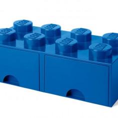 Cutie depozitare LEGO 2x4 cu sertare - Albastru (40061731)
