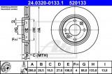 Disc frana CITROEN XANTIA (X1) (1993 - 1998) ATE 24.0320-0133.1