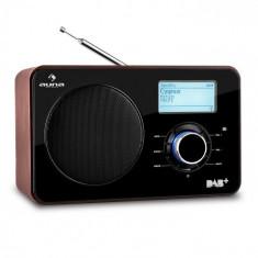 Auna Digidab Retro DAB / DAB + Radio Digital portabil AM / FM PLL ceas