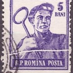 1955 - Activitati, val. 5bani eroare - pliu in hartie
