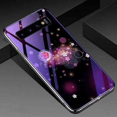 Husa Samsung Galaxy S10 Plus Cu Spate Din Sticla Colorata foto