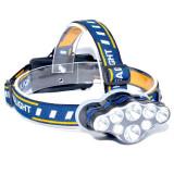 Lanterna de Cap 8 LED-uri , 2 Acumulatori 3,7V LI-ION