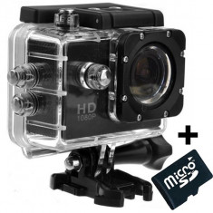Camera Sport iUni Dare 50i HD 1080P, 12M, Waterproof, Negru + Card MicroSD 8GB Cadou