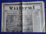 Ziarul Viitorul : Funeraliile Regelui Carol I - 1914