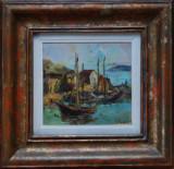 Nicolae Dărăscu (1883-1959) - Bărci în port, Marine, Ulei, Altul