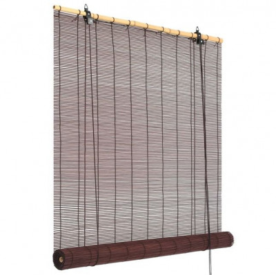 Jaluzea bambus 100 x 160 cm Maro închis foto