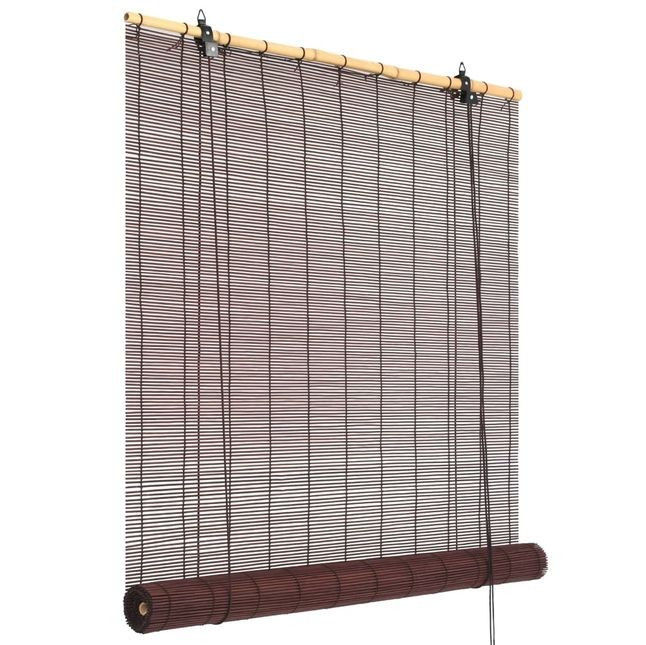 Jaluzea bambus 100 x 160 cm Maro închis