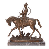 Louis XV -statueta ecvestra din bronz pe un soclu din marmura JK-13, Religie