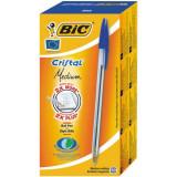 Cumpara ieftin Set 50 Pixuri BIC Cristal, Varf 1 mm, Albastre, Corp Plastic Transparent/Albastru, Pixuri BIC CRISTAL Mediu, Pixuri Scoala, Pixuri Colorate, Pixuri Al