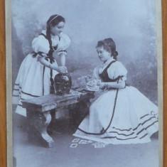 Foto pe carton , sfarsit de secol 19 , Lugoj , Baile Herculane