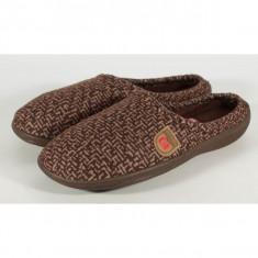 Papuci de casa maro din plus - 12673