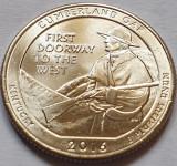 25 cents / quarter 2016 SUA, Kentucky, Cumberland Gap, litera d, America de Nord