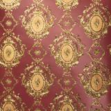 Tapet clasic, visiniu, auriu, dormitor, living, vinil,extralavabil, Royal 96704