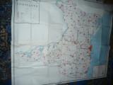 Harta mare a Judetului CONSTANTA 1978 , dim.=155x127cm , RSR Inst. Geodezie