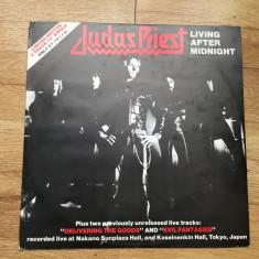 JUDAS PRIEST - LIVING AFTER MIDNIGHT (3 TRACKURI, 1980,CBS,UK) vinil vinyl