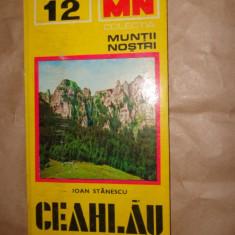 Muntii Ceahlau colectia muntii nostri nr 12 cu harta