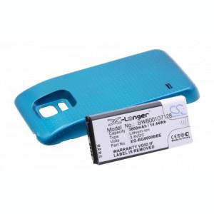 Baterie extinsă albastră pentru Samsung galaxy s5 mini u.a. 3800mAh
