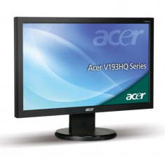 "Monitor LCD 18.5"" ACER V193HQL, Grad A, 1366 x 768, Widescreen, 5ms, VGA,..."