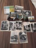 SET 10 MINI VEDERI/CARTI POSTALE PETRODVORET ALB-NEGRU ANII 60