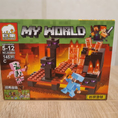 NOU/SIGILAT - Set de 145 piese tip lego Minecraft - ( ELEPHANT C )