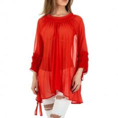 Bluza transparenta, vaporoasa, de culoare rosie, M/L, S/M, Rosu
