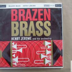 H Jerome and his orchestra Brazen brass disc vinil Brunswick UK 1960