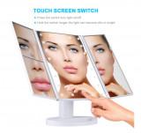 Oglinda cu LED pentru machiaj, marire imagine de 2x si 3x