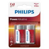 BATERIE POWER ALKALINE LR14 C BLISTER 2 BUC P, Philips